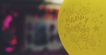 Balloon with happy birthday on it