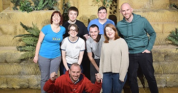 The Edge of the Web team at the Crystal Maze