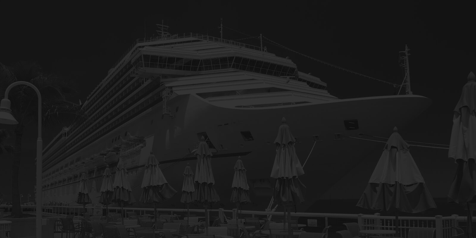 Cruise ship docked at a port