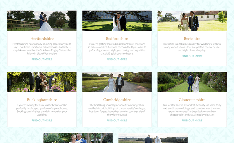 Screenshot of Becky Kerr Photography locations