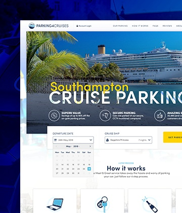 Screenshot of the Parking4Cruises website