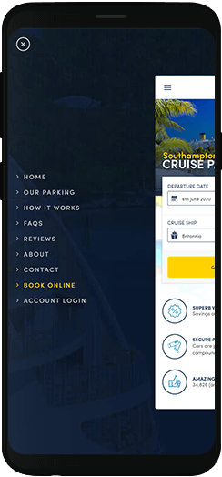 Parking4Cruises navigation on a mobile device