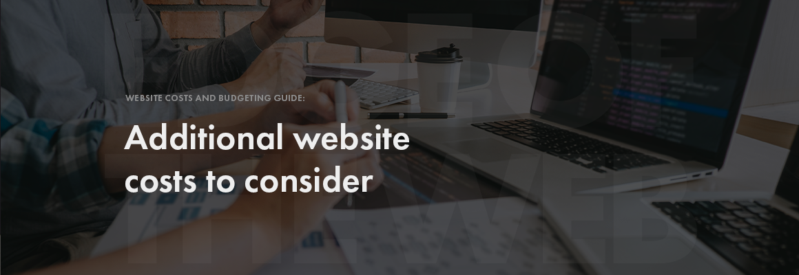 Additional website costs to consider