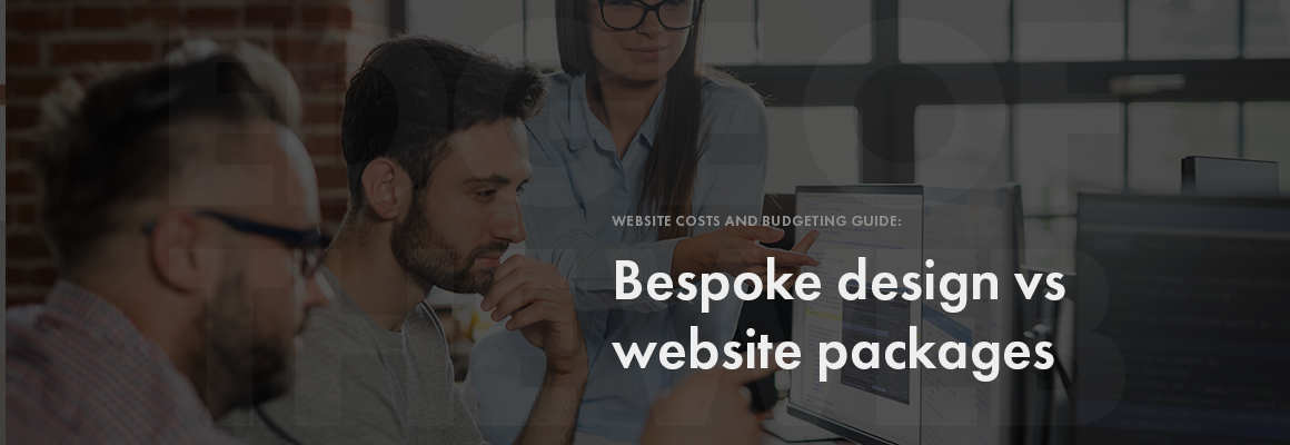 Bespoke web design vs packages
