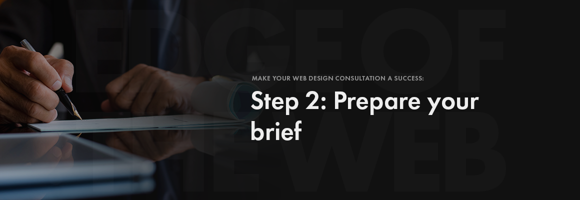 Step 2: website brief