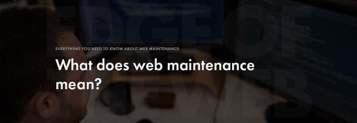 What does web maintenance mean