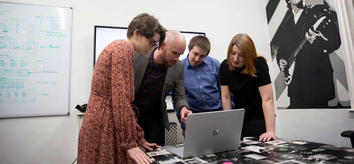 web team collaborating